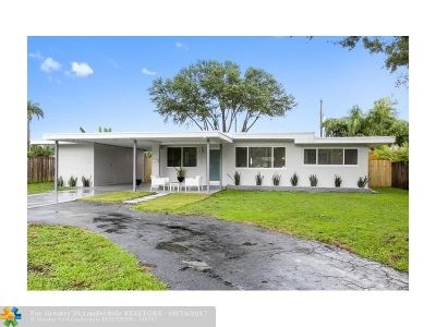 Oakland Park Single Family Home For Sale: 221 NW 36th St