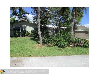 Broward County Single Family Home For Sale: 4271 NE 24th Ave