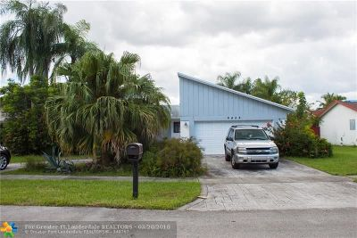 Sunrise Single Family Home For Sale: 9428 NW 46th Ct