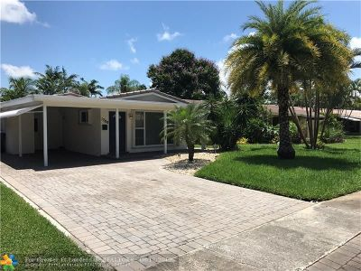 Oakland Park Single Family Home For Sale: 1780 NE 39th St