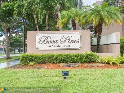 Boca Raton Condo/Townhouse For Sale: 6663 Boca Pines Trl #A