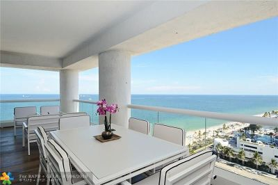Fort Lauderdale Condo/Townhouse For Sale: 551 N Fort Lauderdale Beach Blvd #1014