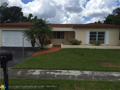 Pembroke Pines Single Family Home For Sale: 1272 NW 89th Ter