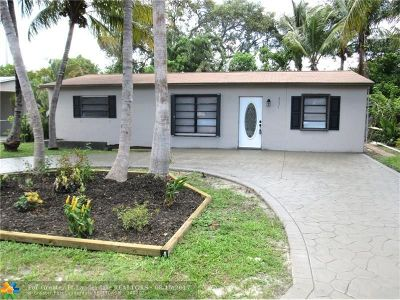 Oakland Park Single Family Home For Sale: 4031 NW 8th Ter
