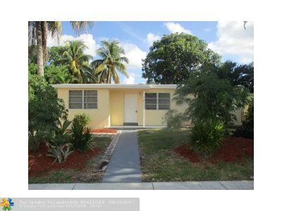 Pompano Beach Single Family Home For Sale: 1711 NE 46th St