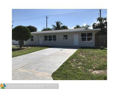 Pompano Beach Single Family Home For Sale: 2601 NE 9th Ave
