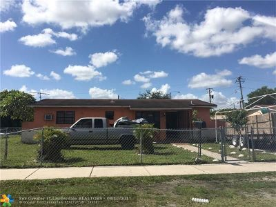 Miami Gardens Single Family Home For Sale: 2980 NW 208th Ter