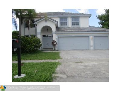Pembroke Pines Single Family Home For Sale: 860 SW 174th Ter