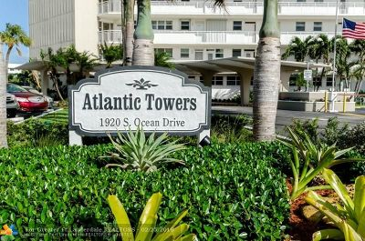 Fort Lauderdale Condo/Townhouse For Sale: 1920 S Ocean Dr #601