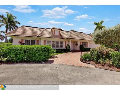 Lighthouse Point Single Family Home For Sale: 2516 NE 34th Ct