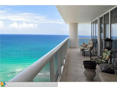 Hallandale Condo/Townhouse For Sale: 1850 S Ocean Dr #2801