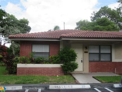 Coral Springs Condo/Townhouse For Sale: 9607 NW 4th St #2A