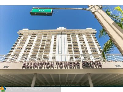 Hollywood Condo/Townhouse For Sale: 1600 S Ocean Dr #14B