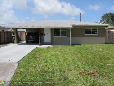 Oakland Park Single Family Home For Sale: 341 NE 45th St