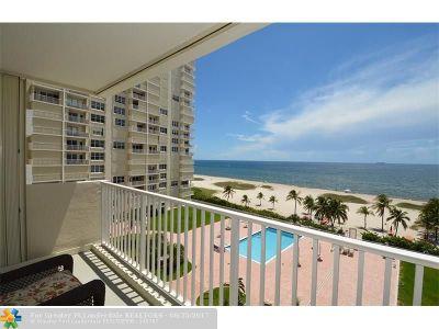 Pompano Beach Condo/Townhouse For Sale: 750 N Ocean Blvd #710
