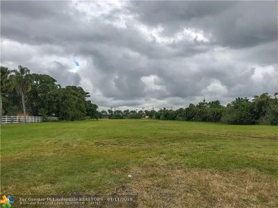 Southwest Ranches Residential Lots & Land For Sale: 5400 SW 130 Ave
