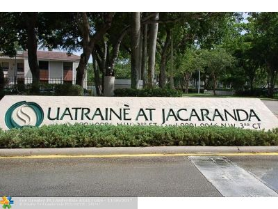 Plantation Condo/Townhouse For Sale: 9843 NW 3rd Ct #1
