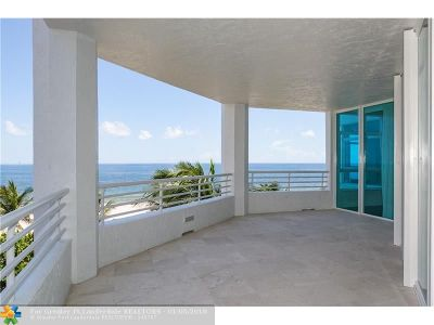 Pompano Beach Condo/Townhouse For Sale: 1700 S Ocean Blvd #4A
