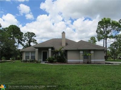 Loxahatchee Single Family Home For Sale: 14573 72nd Ct