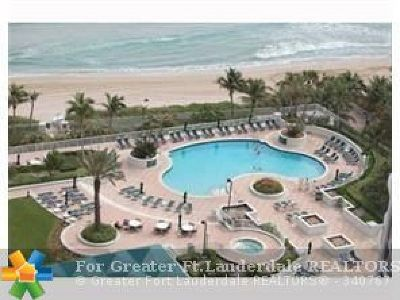 Fort Lauderdale Condo/Townhouse For Sale: 3100 N Ocean Blvd #2506