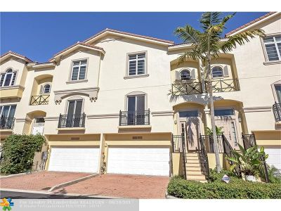 Oakland Park Condo/Townhouse For Sale: 1831 Coral Heights Blvd #1831