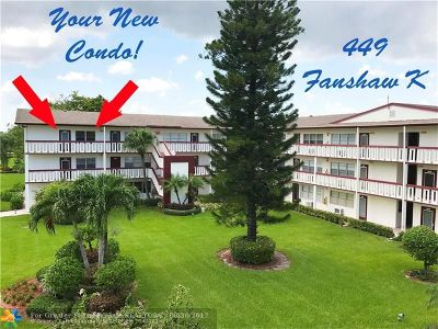 Boca Raton Condo/Townhouse For Sale: 449 Fanshaw K #449