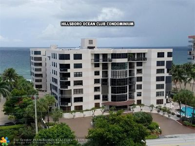 Broward County Condo/Townhouse For Sale: 1155 Hillsboro Mile #204