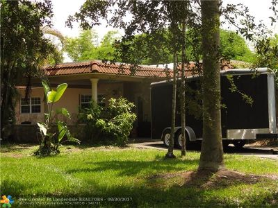 Southwest Ranches Single Family Home For Sale: 17950 SW 55th St