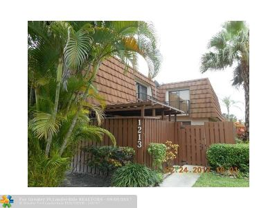 Davie Condo/Townhouse For Sale: 1213 SW 120th Way #1213