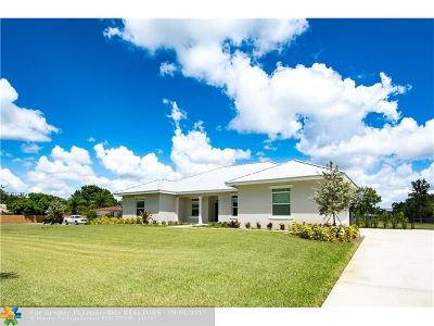 Davie Single Family Home For Sale: 14025 SW 21st St
