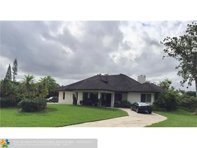 Davie Single Family Home For Sale: 14050 SW 26th Ct