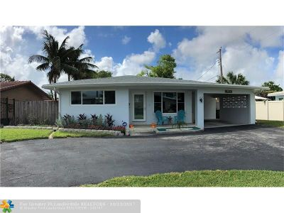Wilton Manors Single Family Home For Sale: 2411 NE 17th Ter
