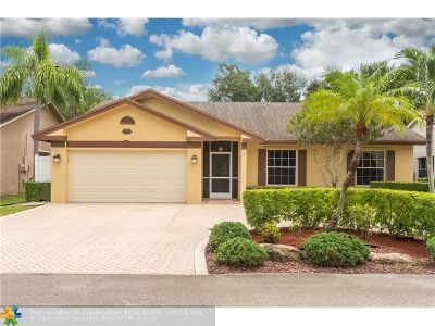 Coral Springs Single Family Home For Sale: 5223 NW 98th Ter