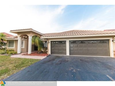 Coral Springs Single Family Home For Sale: 9655 NW 52nd Place