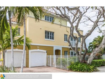 Fort Lauderdale Condo/Townhouse For Sale: 641 NE 11th Ave
