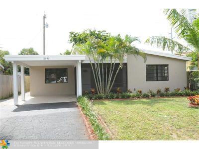 Pompano Beach Single Family Home For Sale: 3845 NE 15th Ter