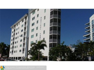 Fort Lauderdale Condo/Townhouse For Sale: 720 Bayshore Dr #505
