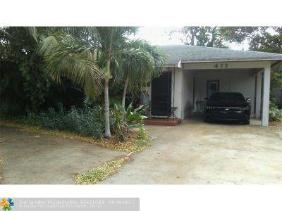 Pompano Beach Single Family Home For Sale: 413 NE 12th Ave