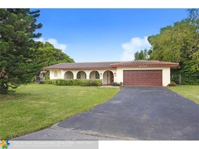 Coral Springs Single Family Home Backup Contract-Call LA: 3741 NW 98th Ave