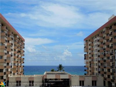 Hillsboro Beach Condo/Townhouse For Sale: 1150 Hillsboro Mile #408