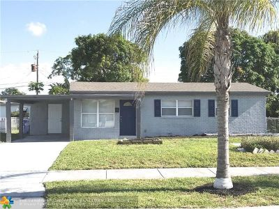 Pompano Beach Single Family Home For Sale: 741 NW 17th Ct