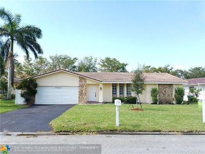 Coral Springs Single Family Home For Sale: 2442 NW 118th Terrace