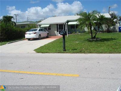 Pompano Beach Single Family Home For Sale: 1261 NE 39 St.
