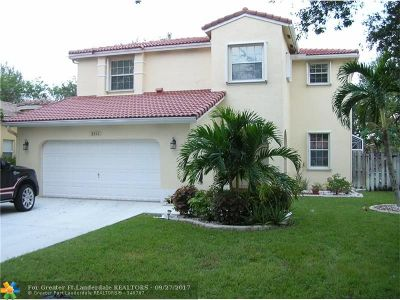 Coconut Creek Single Family Home For Sale: 3812 NW 42nd Way