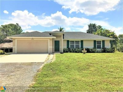 Loxahatchee Single Family Home For Sale: 16930 W Mead Hill Dr