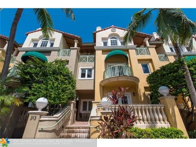 Fort Lauderdale Condo/Townhouse For Sale: 313 Tarpon Dr #313