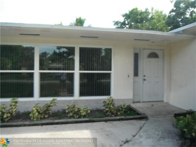 Plantation Single Family Home For Sale: 7040 NW 8th Ct