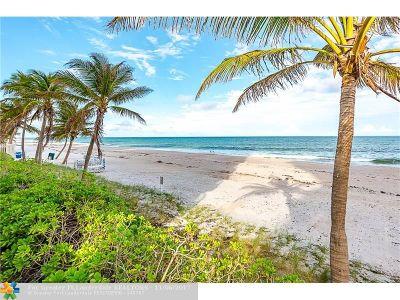 Condo/Townhouse For Sale: 3400 Galt Ocean Dr #1605 S