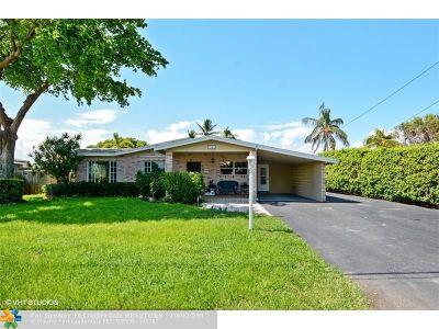 Broward County Single Family Home For Sale: 3941 NE 16th Terrace