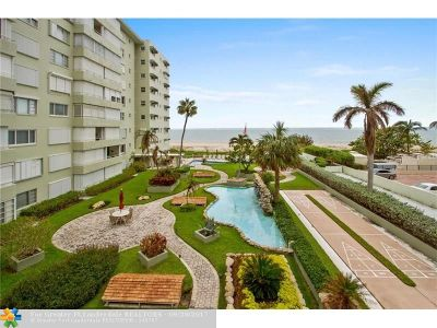 Lauderdale By The Sea Condo/Townhouse For Sale: 1850 S Ocean Blvd #106